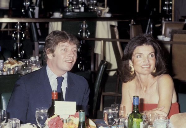 Pete hamill with Jackie Onassis