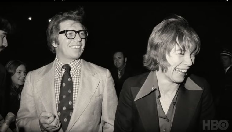 Pete Hamill with Shirley