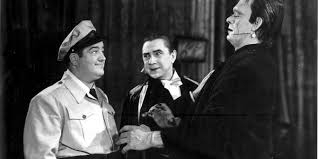 Lou Costello, Bela Lugosi and Glen Strange in Abbott and Costello Meet Frankenstein