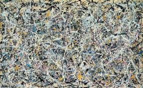 Action painting by Jackson Pollock