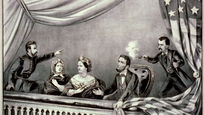 John Wilkes Booth shooting Abraham Lincoln