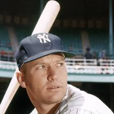 Mickey Mantle batting right.