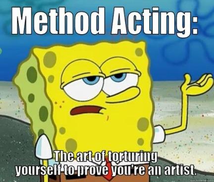 Sponge Bob on method acting