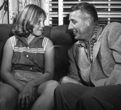 Stan Kenton and his daughter