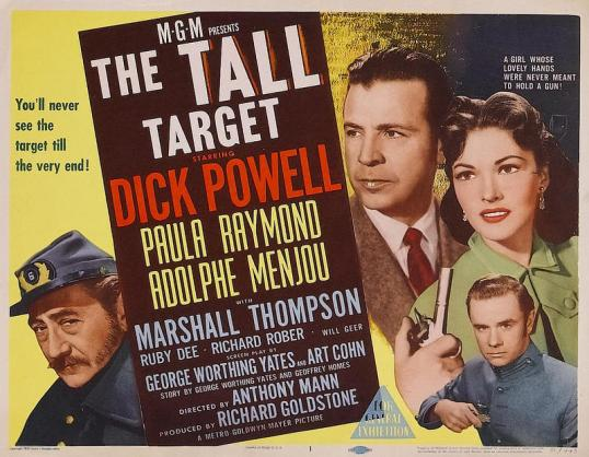 Movie poster for The Tall Target.
