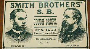 Vintage Smith Brothers cough drops box.