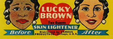 Vintage ad for skin lightener