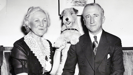 James Byrnes with wife and dog.