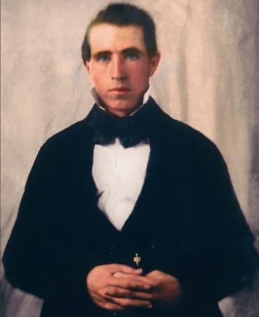 Young Joseph Smith the Mormon prophet.