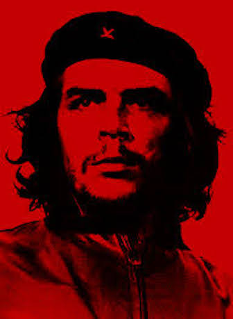 Che poster in red.