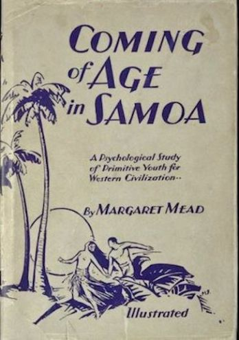 Original book cover of Coming of Age in Samoa.