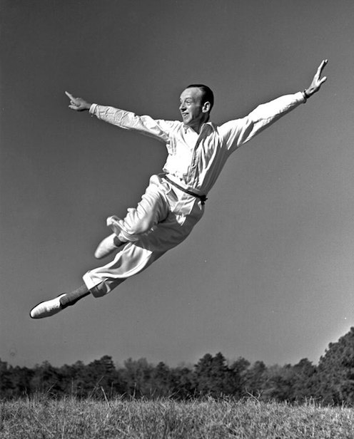 Fred Astaire in flight.