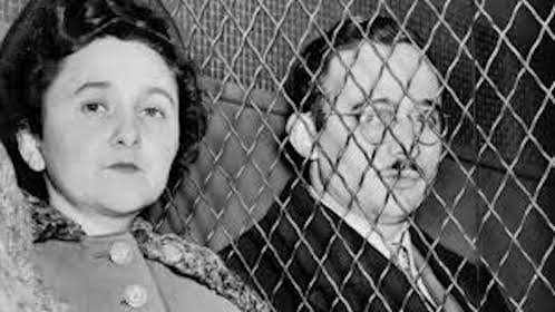Julius and Ethel Rosenberg under arrest.