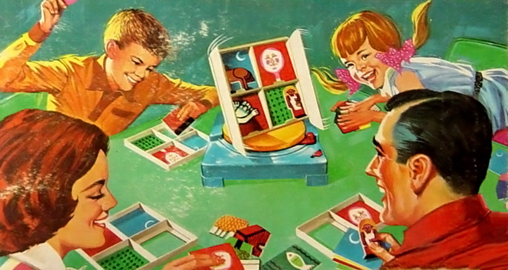 Vintage ad for family board game