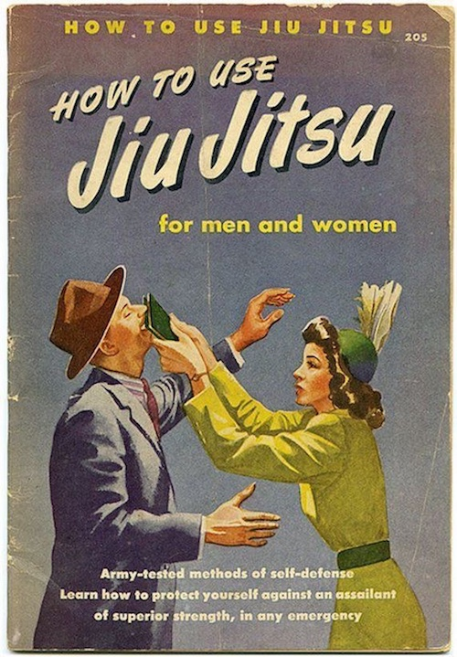 Vintage book cover for How to Use Jiu Jitsu