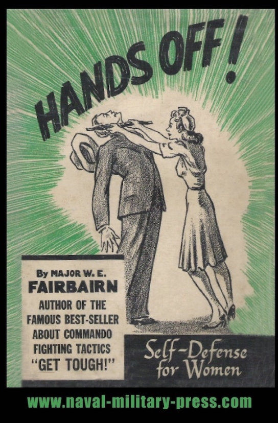 Vintage book cover for female self-defense book
