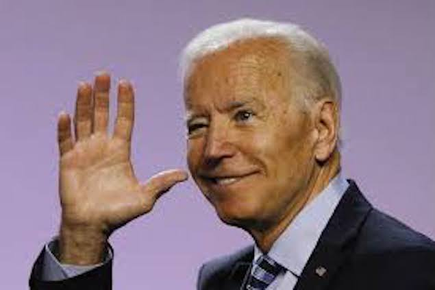 Joe Biden waving