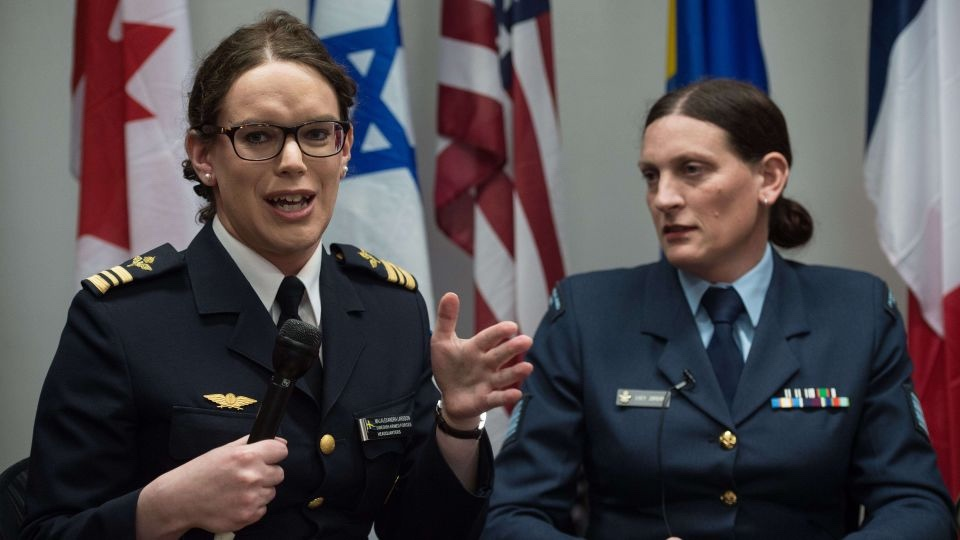 Two trannies in the US military