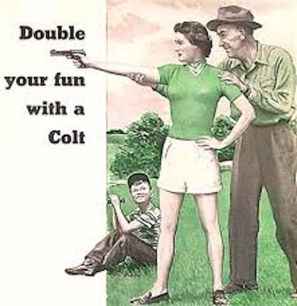 Vintage ad fro Colt pistol