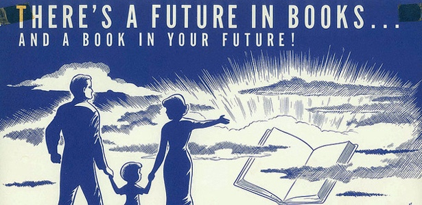 Vintage ad promoting reading