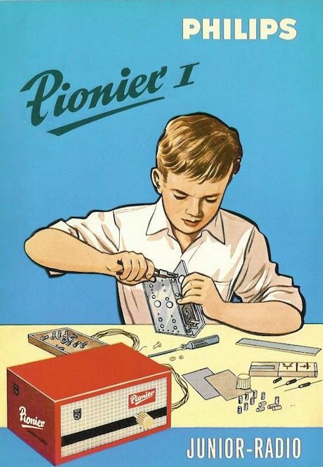 Vintage ad for Boy radio repair