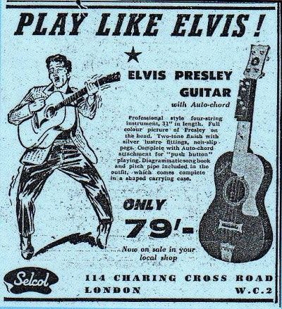 vintage ad - Play Like Elvis