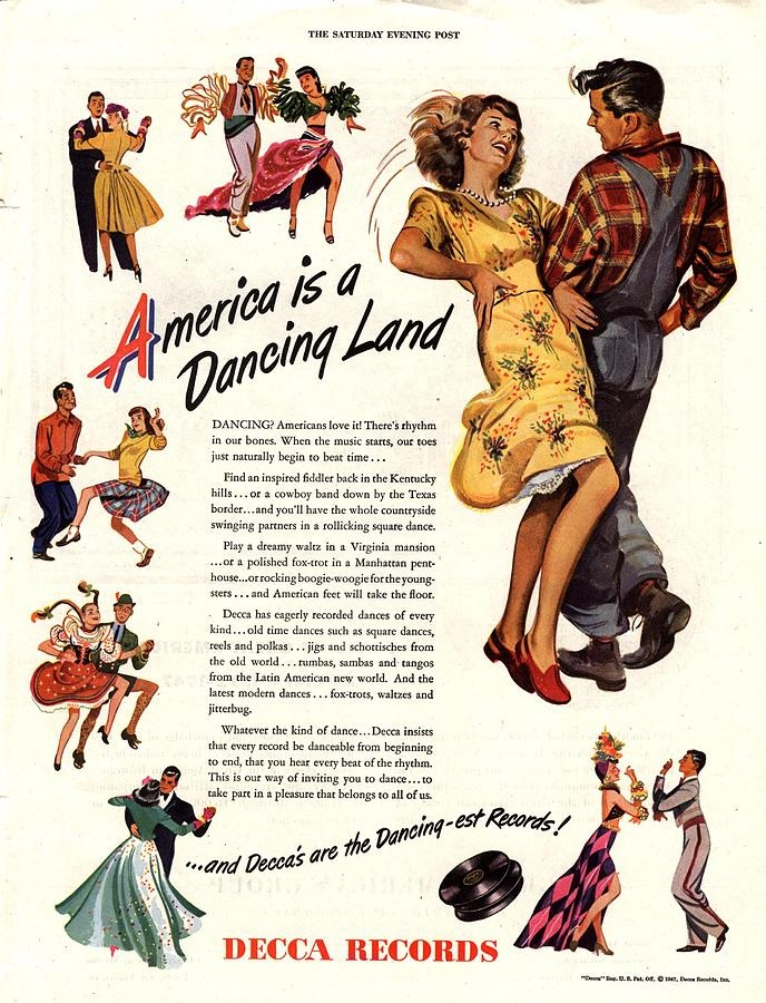 vintage ad - America Is A Dancing Land