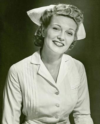 Vintage smiling nurse