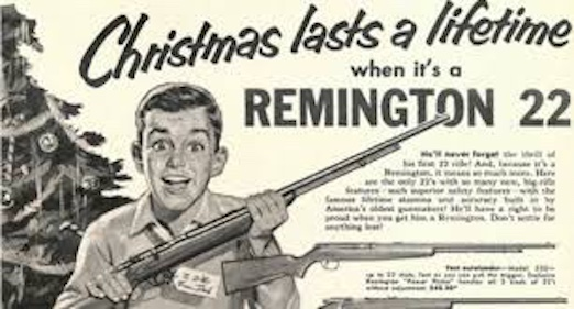 Vintage Remington gun Christmas ad