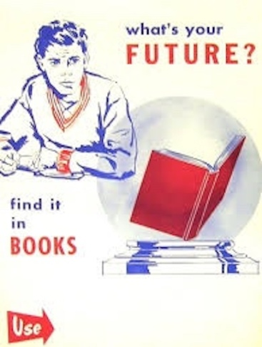 vintage ad Find Your Future in books