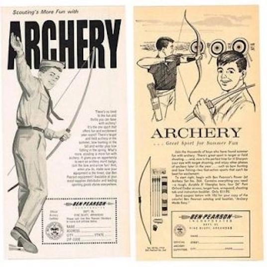 Vintage archery ads