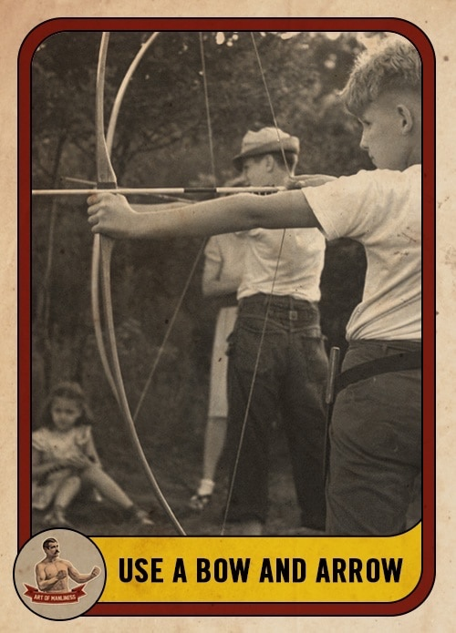 Vintage ad for Bow and Arrow