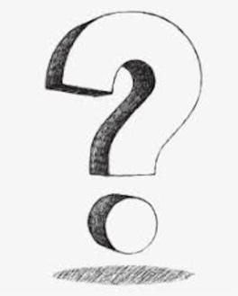 Vintage question mark