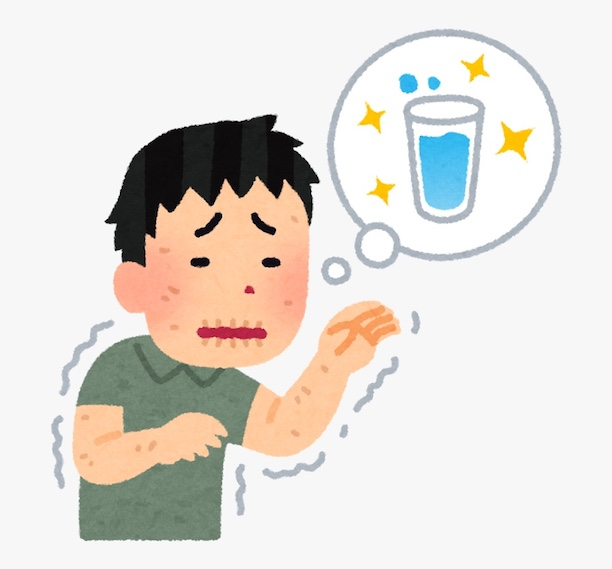 Cartoon of boy dying of thirst