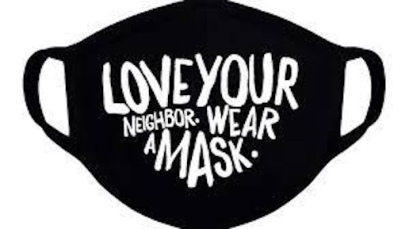 Love Your Neighbor Covid mask