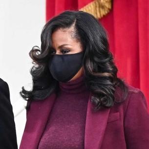 Michelle Obama in mask