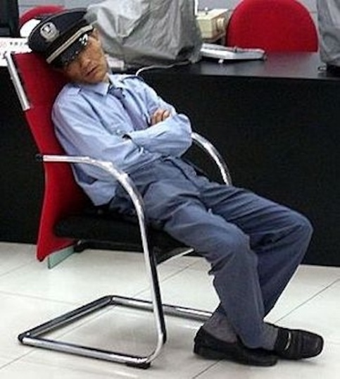 Security Guard sleeping