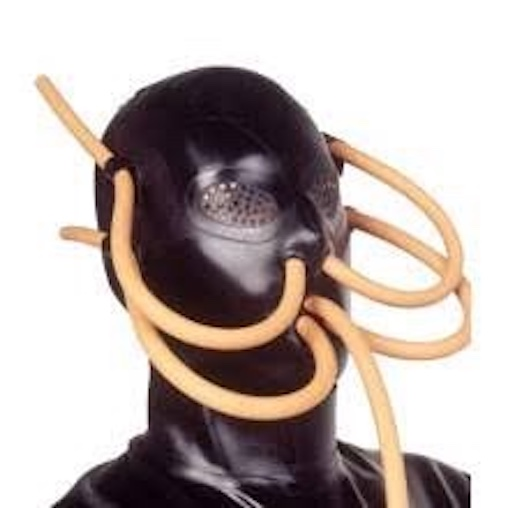 S&M rubber suffocation mask
