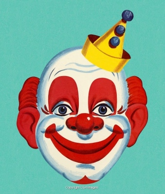 Vintage clown face